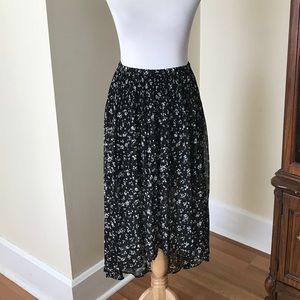 LC Lauren Conrad High/low floral skirt